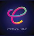 c letter logo icon blending color vector image