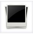 Polaroid photo frames on white background vector image