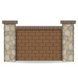 stone fence vector image