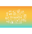Summer travel icon concept vector image