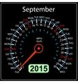 2015 year calendar speedometer car in September vector image vector image