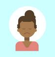 african american female sad emotion profile icon vector image vector image