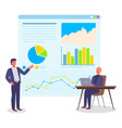 analysing project businesspeople office workers vector image vector image
