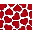 background of red hearts on the day of the holiday vector image vector image