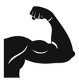 Biceps icon simple style vector image vector image