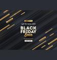 black friday sale design with golden elements vector image vector image