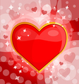 Bright background with heart 3 vector image vector image