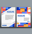 business brochure design template color geometric vector image