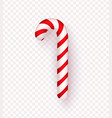 christmas realistic candy cane isolated on vector image
