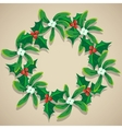 Christmas Wreath of Mistletoe vector image vector image