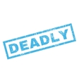 Deadly Rubber Stamp vector image vector image