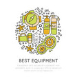 diving equipment hand draw icons underwater vector image