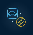 electric car and lightning concept creative vector image vector image