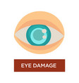 eye damage diabetes symptom blurred pupil isolated vector image