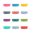 feedback paper icons set colorful web labels vector image vector image