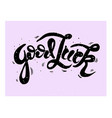 good luck lettering handwritten modern vector image