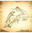 Grunge Jaguar vector image