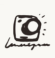 hand drawn photo camera icons labels vector image