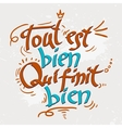 Hand drawn text lettering with Quotations vector image vector image