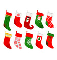 hanging christmas socks vector image