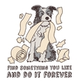 Humor fun dog happy pet isolate on white vector image