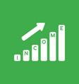 icon concept of income sales bar graph arrow vector image vector image
