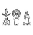 jesus ministry icon cartoon graphic vector image