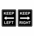 keep left and right vector image vector image