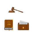 law and lawyer symbol set vector image