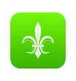 lily heraldic emblem icon digital green vector image