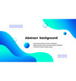 liquid blue abstract background banner vector image vector image