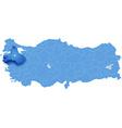 Map of Turkey Balikesir vector image