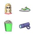 medicine cinema and other web icon in cartoon vector image vector image