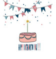 modern happy birthday greeting card background vector image vector image