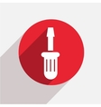 modern screwdriver red circle icon vector image vector image