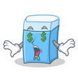 money eye eraser character mascot style vector image vector image