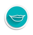 mouth lipstick female icon flat vector image