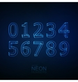 Neon 3D number set vector image