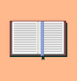 open book icon in a flat style study and vector image vector image
