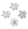 patriotic fireworks icon in cartoonblack style vector image