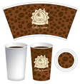 pattern for the cup vector image