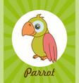 pet design over green background vector image vector image