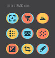 picture icons set with blur broken image vector image