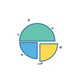 pie chart icon design vector image vector image