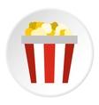 Popcorn box icon flat style vector image