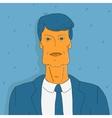 portrait doodle man in suit vector image vector image