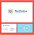 protected sheild logo design with tagline front vector image vector image