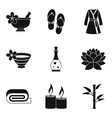 romantic massage icons set simple style vector image vector image
