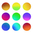 round gradient set vector image