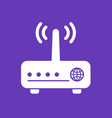 router modem icon vector image